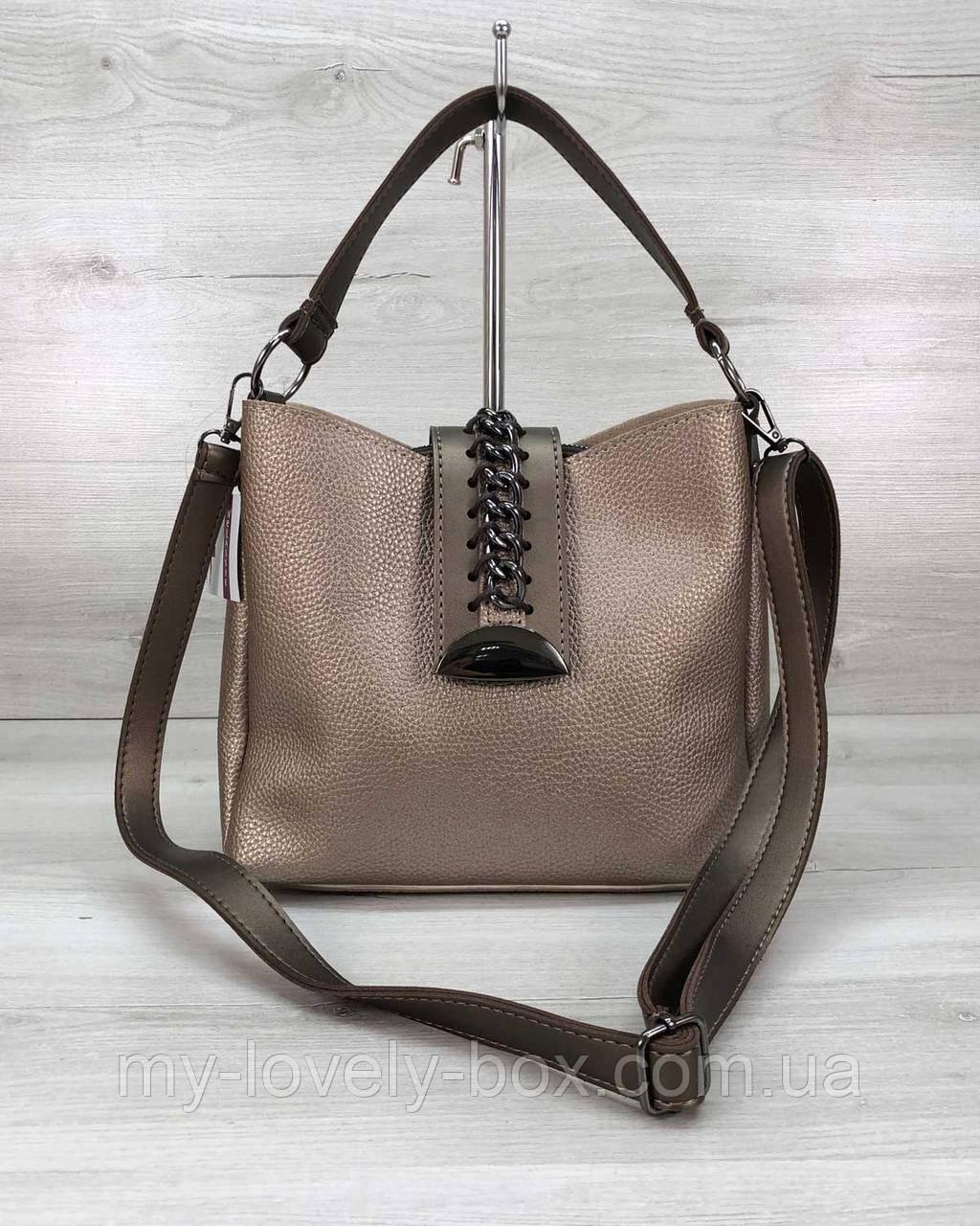 Жіноча сумка «Саті» золото