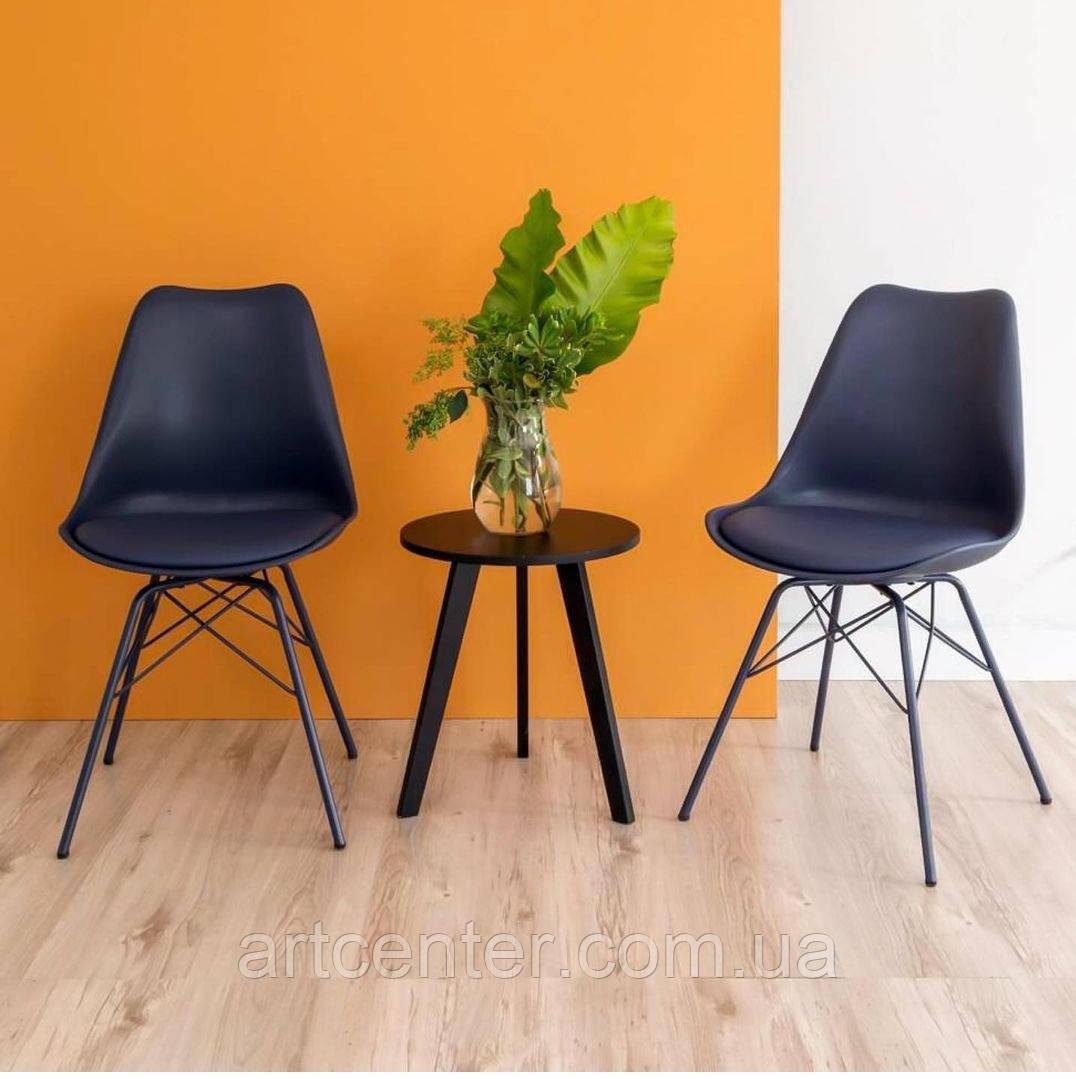 Стул офисный, стул для дома, стул для посетителей, стул обеденный (Тау черный)