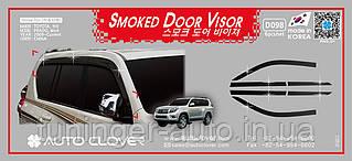 Дефлекторы окон, ветровики Toyota Land Cruiser Prado 150 2009-2021 (6шт./Autoclover D098)