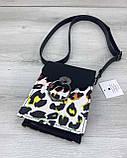 Клатч жіночий «Gina» чорно-білий леопард, фото 3
