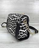 Женская сумка «Бэсс» черно-белый леопард, фото 2