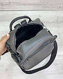 Сумка рюкзак «Dacio» серый, фото 4
