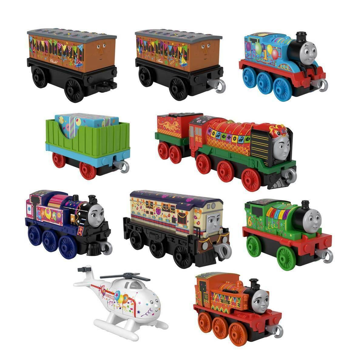 Набор паровозики Томас и его друзья 10 штук Fisher Price Thomas & Friends GRG41