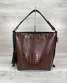 Женская сумка «Шерри» коричневая
