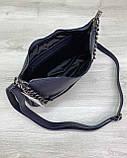 Жіноча сумка «Луна» темно синя, фото 3