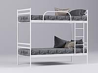 Двухъярусная металлическая кровать Comfort Duo (Комфорт Дуо) Метакам 80х190, Двухъярусная, Белый
