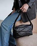 Женская сумка «Догги» черная стеганая, фото 2