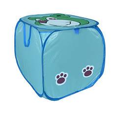 Кошик для іграшок M 2508(Blue) (50шт) тварина,высота45см,кришка-липучка,ручки,в кульку,45-45см