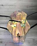 Пляжна сумка «2 в 1» перламутрова силіконова з чорним, фото 3