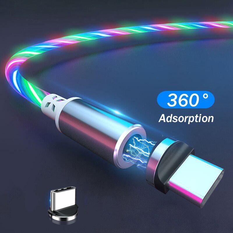 Магнітний кабель світиться 2 метри Type-C