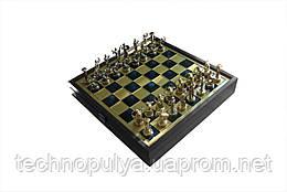 Шахматы Manopoulos Греческая мифология в деревянном футляре 34 х 34 см Синие (SK5BLU)