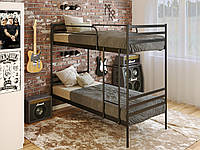 Двухъярусная металлическая кровать Optima Duo (Оптима Дуо) Метакам 90х200 Двухъярусная черная
