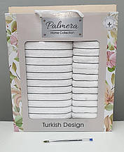 Набор махровых полотенец хлопок 50*90 и 70*140 TM Palmera,Турция  Белый