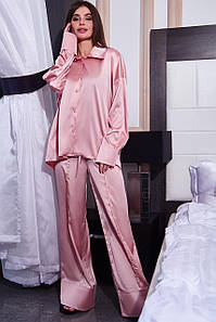 Женская шелковая брючная пижама с блузкой (Танья jd)