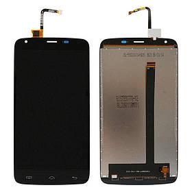 Дисплей (экран) для Homtom HT6 с сенсором (тачскрином) черный Оригинал