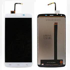 Дисплей (экран) для Homtom HT6 с сенсором (тачскрином) белый