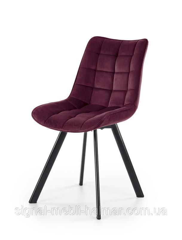 Стул K332 ножки стула - черный, сиденье - бордовый  (Halmar)