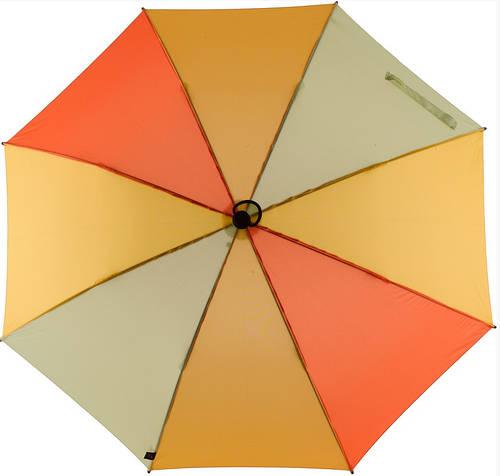 Женский эффектный механический складной зонт EuroSCHIRM Light Trek 3029-CW3/SU17683 оранжевый
