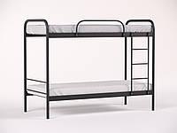 Двухъярусная металлическая кровать Relax Duo-2 (Релакс Дуо-2) Метакам 90х190, Двухъярусная, Черный