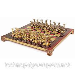 Шахи Manopoulos Титани в дерев'яному футлярі 36 х 36 см Червоні (S6RED)