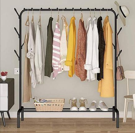 Одинарная стойка для одежды черного цвета, фото 2