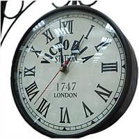 """ЧАСЫ """"СТАНЦИОННЫЕ"""" (8"""")(IRON RAILWAY CLOCK WHITE 8"""") 24480"""