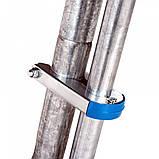 Батут діаметром 465 см з зовнішньої сіткою і сходами з навантаженням до 180 кг висотою 270 см синій, фото 9
