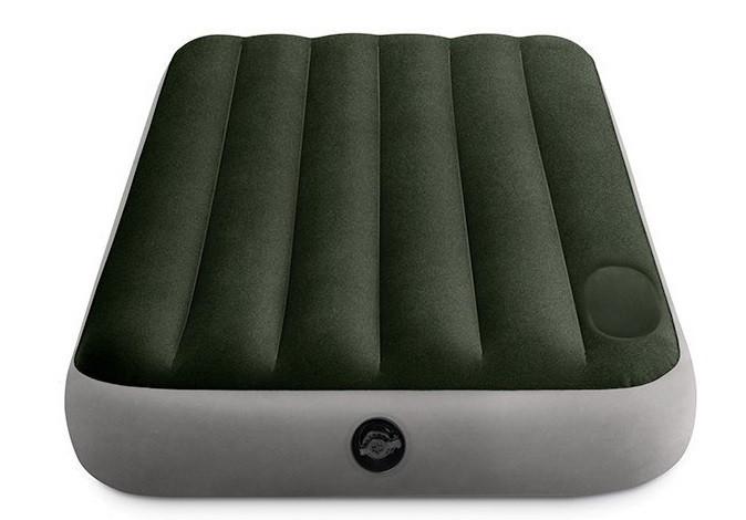 Матрас надувной одноместный Intex 64761 99x191x25см, зеленый