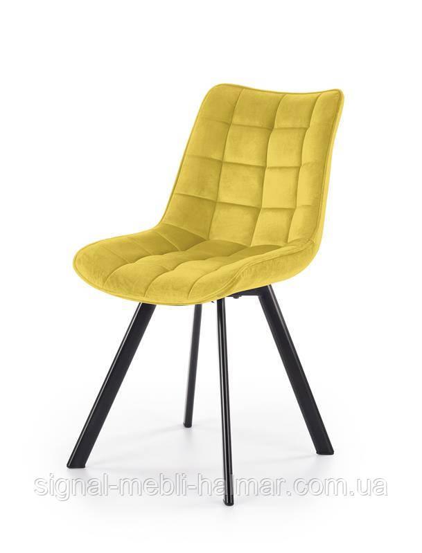 Стул K332 ножки стула - черный, сиденье желтый (Halmar)