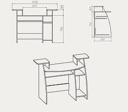 """Компьютерный стол """"СКМ-4"""", фото 3"""