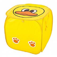 Кошик для іграшок M 2508(Yellow) (50шт) тварина,высота45см,кришка-липучка,ручки,в кульку,45-45см