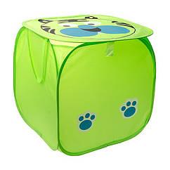 Кошик для іграшок M 2508(Green) (50шт) тварина,высота45см,кришка-липучка,ручки,в кульку,45-45см
