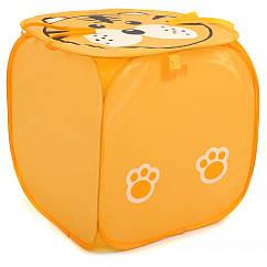 Кошик для іграшок M 2508(Orange) (50шт) тварина,высота45см,кришка-липучка,ручки,в кульку,45-45см