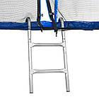 Батут Atleto 252 см с двойными ногами с сеткой синий, фото 4