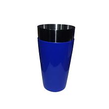 Стакан шейкер верхпластік. вінілове покриття синій