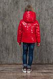 Демисезонная куртка на девочку блестящая лаковая на весну и осень, модель Альбина, 134-152, фото 4