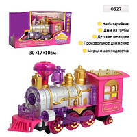 Сказочный поезд батар.,музыка,свет,в коробке