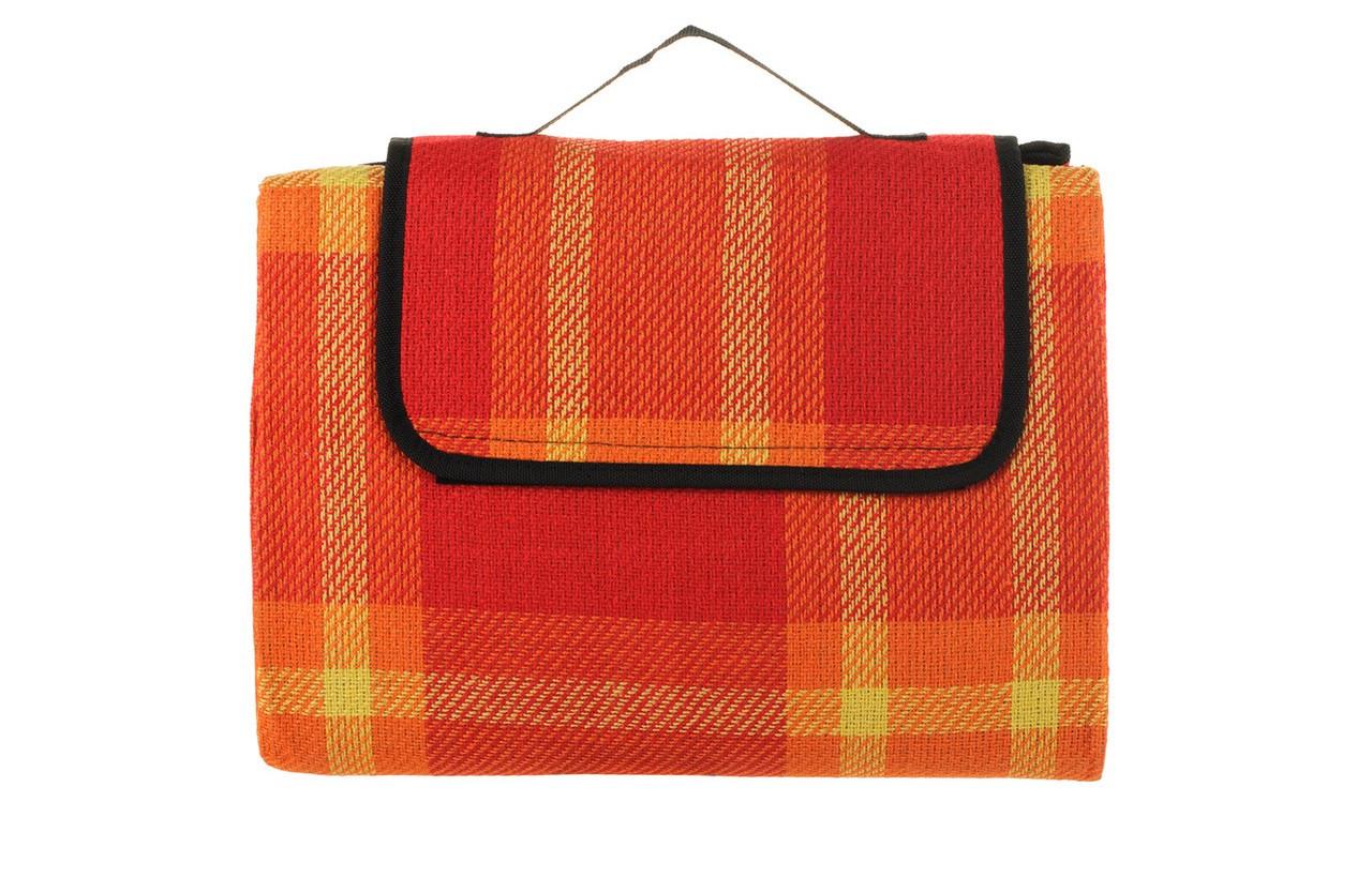 Оранжевый коврик для пикника кемпинга и пляжа водонепроницаемый 140 х 200 см с нейлоновой подкладкой