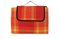 Оранжевый коврик для пикника кемпинга и пляжа водонепроницаемый 140 х 200 см с нейлоновой подкладкой, фото 1