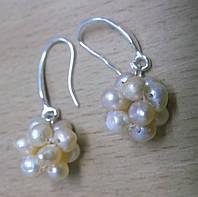 Серьги- грозди с золотистым жемчугом от студии LadyStyle.Biz