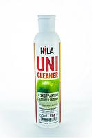 Универсальная жидкость Nila Uni-Cleaner без ацетона для очистки 250 мл. зеленое яблоко