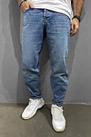 Крутые мужские джинсы весна-осень светло-синие