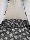 """Акция! Набор постельного в детскую кроватку 8 элементов """"Белые звезды на темно сером"""", фото 3"""