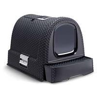 Туалет для кошек пластиковый черный 510Х385Х400 мм Curver CR-00615-1