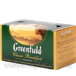 Чай пакетований Classic Breakfast Greenfield 25 пакетиків по 2 гр.