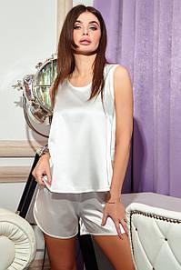 Женская шелковая пижама с шортами и майкой (Шоти jd)