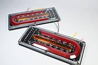 Фонарь LED задний 24v до Автомобильной техники, грузовиков, 33х13см (Бегущий поворотник) Reap lamp Wagen