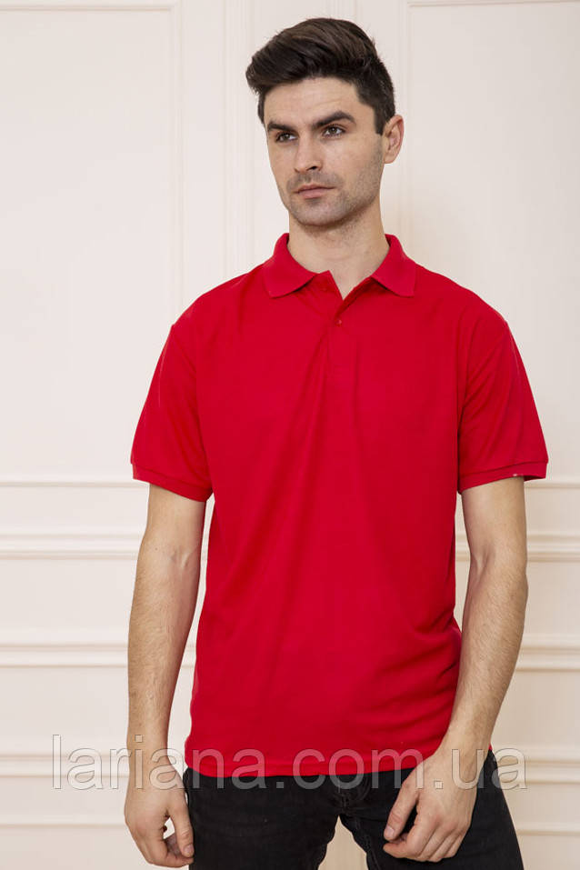Поло чоловіча 168RA2-5 колір Червоний