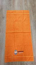 Полотенце махровое банное с символикой ФК Шахтер.