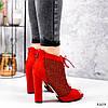 Ботильйони жіночі Tad червоні 3203, фото 4